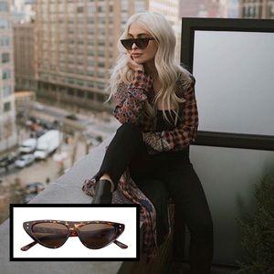 Accessories - 🆕 Cat Eye Slim Tortoise Shell Sunglasses